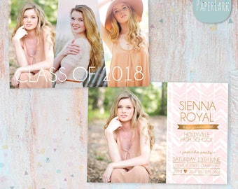 Senior Graduation Card - Photoshop Template - AG008 - INSTANT DOWNLOAD