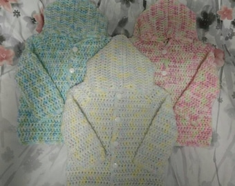 Crochet Baby Hooded Sweater