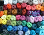 Cotton yarn 32 skeins * Catania * 1600 gram in total * quality crochet yarn * each 50 gram * free colorchoice * 98 colors, smc schachenmayr