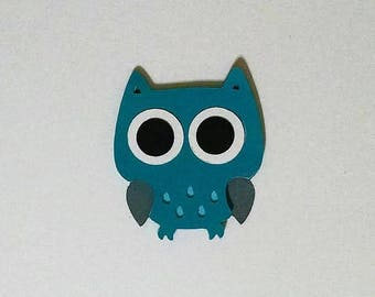 8 Owl die cuts - 4 inches tall