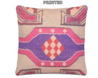 pink kilim pillow 18x18 throw pillow cover 18x18 decorative pillow 18x18 throw pillow 18x18 pillow cover 18x18 pillow case 18x18 sham 26-45