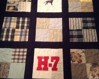 Patchwork Memorial Quilt with sashing