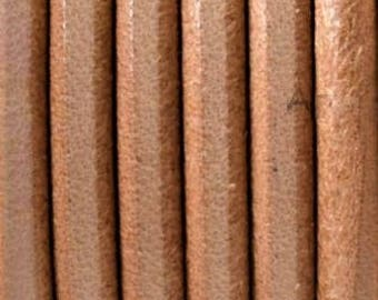 3ft High Quality 3mm Round Natural Leather Cord,