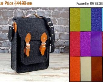 Christmasinjuly Custom colors, Vertical Laptop bag 13 in, , felt satchel, macbook pro, macbook air 13 inch sleeve, case, bag