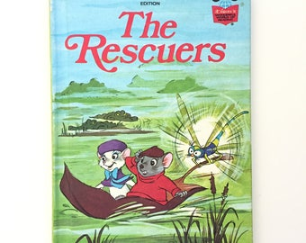 The Rescuers / Vintage Disney Book / Vintage Children's Book / 1977 / Disney's Wonderful World of Reading / Out of Print