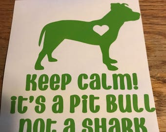 Pit Bull Decal