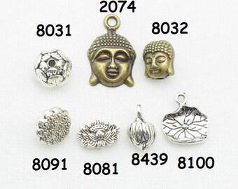Lotus lotus leaf Buddha Beads Punch 8031
