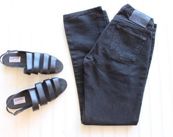 Vintage Calvin Klein Jeans Black Denim Boyfriend Jeans Relax Fit Jeans 28 Waist