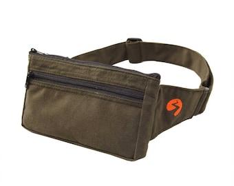Hip Bag   Canvas Bag, Belt Bag, Waist Bag, Hip Pack, Fanny Pack, Bum Bag, Travel Bag, Travel Pouch - 1 Year Warranty