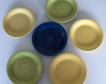 Citrus Grove Hand Painted Design Set Of 6 Salad Plates