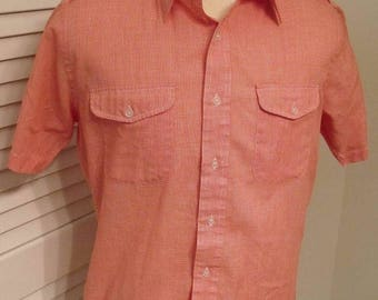 HAPPY SUMMER SALE Vintage short sleeve button down shirt by Ballymoor