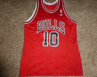 Vtg B.J. Armstrong Chicago Bulls NBA Champion Jersey Sz Men's 44 L
