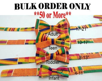 Bulk Kente Bow Ties (Order 50 or more for this Product)