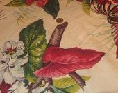 1950's Barkcloth Curtain Panel