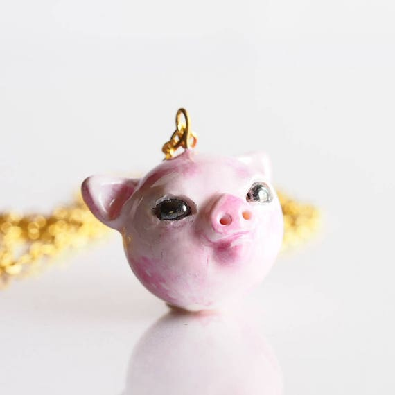FULL MOON BABY, Piglet - Handmade Polymer Clay Sculpture
