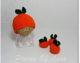 Crochet baby prop Mandarin prop Crochet citrus Newborn prop Baby prop Crochet prop photography prop Crochet Fruit Vegan prop