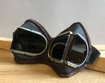 Vintage Welding Glasses. Safety Glasses. Industrial Goggles. from the USSR. Steampunk Eyewear