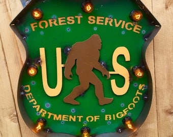 Department of Bigfoots Marquee Sign