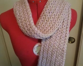 Tan and pink scarf
