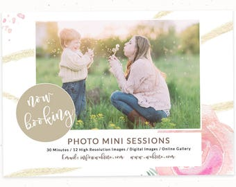 Booking Templates, Marketing Board, Mini Session Templates for Photographers, Photography Marketing Board, Marketing Template, m139