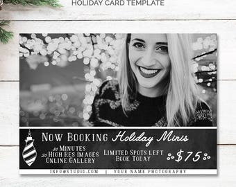 Facebook Promotion, Instagram Marketing, Holiday Mini Session Template, Christmas Mini Session, Holiday Photography Marketing Board, mc181