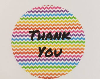 Thankyou stickers x 35 37mm Matt finish Cute way to complete your personal or handmade post
