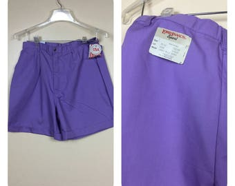 Vintage 80s High waist Shorts ,New with tags Lord Issac 1980s shorts , Sm