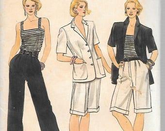JACKET CAMISOLE SHORTS Pants Vintage Vogue  Pattern 8270  Misses Size 12