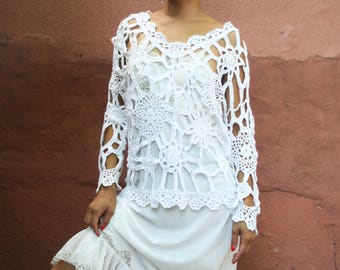 Summer's Over Crocheted L/S