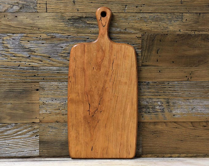 Large Wood Cutting Board, Mineral Streaked Cherry Wood