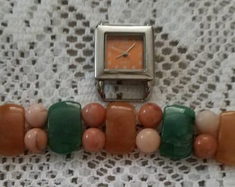 Brown and Green Interchangeable Watch  and Watch Face