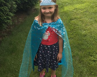 Elsa & Anna premium capes and tiaras