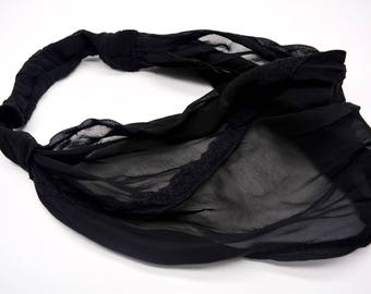 Black Headband, Hair Accessories, Wmenos Accessories, Womens Turban, Womens Headband, Black Gift, Headbands, Chiffon Headband, Hair Covering