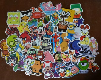 50 pcs Randomly Selected Cartoon Hero Stickers Set No Repeats