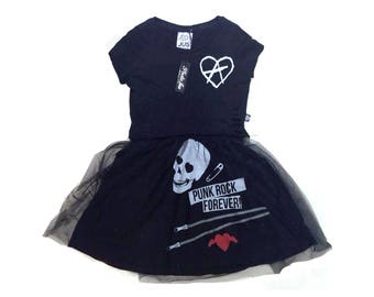 Womens black dress Womens dresses Printed dress Summer dresses Punk rock clothing Punk clothing Punk dress Burning man Festival clothing