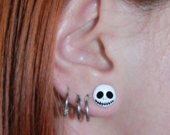 Jack Skellington earrings | The nightmare before christmas | Handmade earrings | Geek jewellery | Nightmare before christmas jewellery