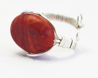 Red Adjustable Ring