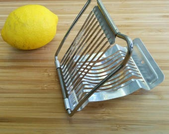 Vintage West Germany Egg Slicer - Retro Kitchen Tool - Hard Boiled Egg Slicer - Wire Slicer