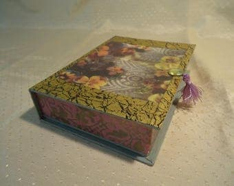 Pansey Jewelry, Trinket, Keepsake Box