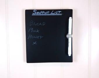 Blackboard / Chalkboard / Kitchen Message Board / Message Board with Chalkpen Included (A5 or A4 Size)