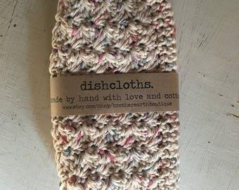 Crochet Dishcloths Washcloths, Crochet Washcloths, Dishcloths, Washcloths, Textured Dishcloths - Set Of Two, READY TO SHIP