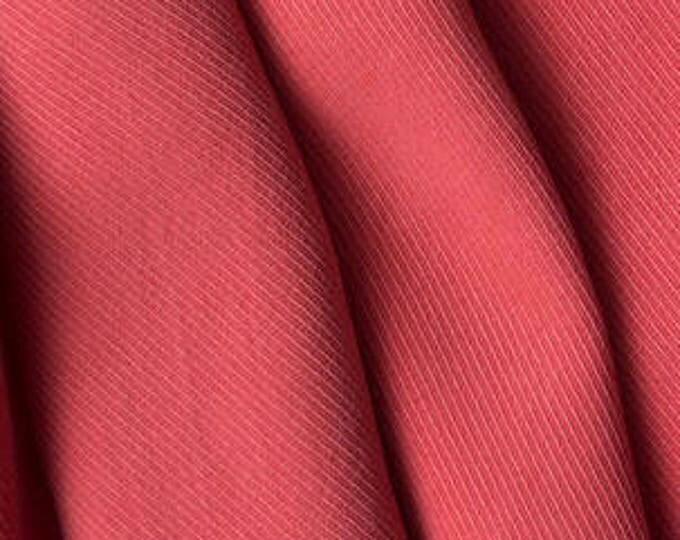 Ribbed Tencel Twill in Watermelon- Indiesew 2017 Fall/Winter Fabric Collection
