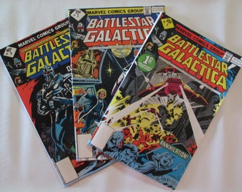 BATTLESTAR GALACTICA COMIC Books Issues #1,2,3 1979 Near Mint Premier issue,plus second and third