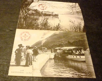 2 Carte Postale Hautecombe France black and white post cards