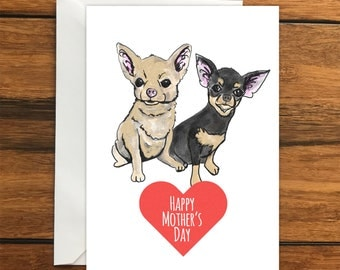 Happy Mother's Day Dogs Blank greeting card A6