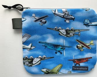 Small Airplane Zip Pouch
