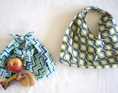 Japanese eco bag, Bento bag, Japanese lunch bag, Azuma bukuro, Azuma bag, Geometric, Shopping bag, Origami, Reusable gift wrap, Market bag