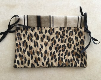 Walker Bag with four pockets, walker tote, walker caddy - Leopard