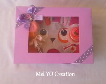 Handmade baby 'Purple' gift box