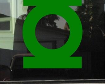 Green Lantern 7 Inch Vinyl Sticker